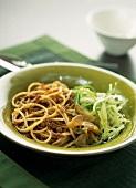 Spaghetti bolognaise with miso