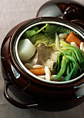 Pork hotpot with miso sauce