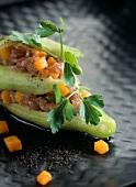 Cucumber and tuna Tartare Mille-feuille