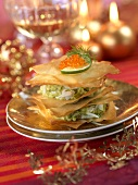 Avocado and crab Mille-feuille