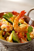 Sauteed shrimps with lime