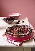 Cherry and pistachio Clafoutis