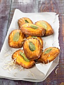 Polenta and sage Madeleines