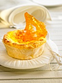 Honey cristal baked egg custard tarlet