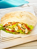Veal kebab salad