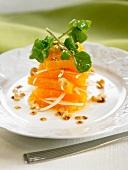 Orange, watercress and walnut salad