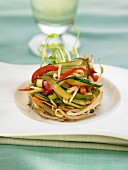 Sauteed beansprouts and vegetables