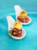 Potato and octopus Tapas