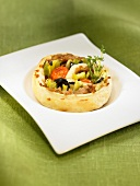 Tuna flaky pastry tartlet