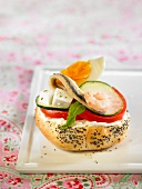 Mediterranean anchovy salad