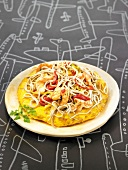 Elver and potato omelette