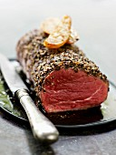 Beef filet with black pepper crust