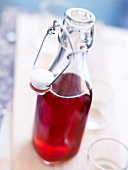 Bottle of homemade Kir