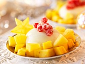 Coconut cream dessert with pineapple