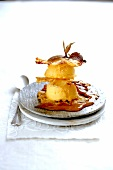 Grilled pineapple and passion fruit sorbet Mille-feuille