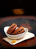 Chocolate and ginger macaroons