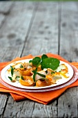 Haddock and apricot salad