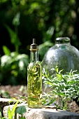 Tarragon-flavored oil