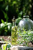 Tarragon-flavored oil