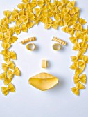 Pasta in the shape of a face