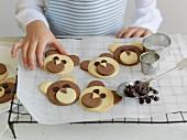 Child preparing cookies