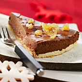 Chocolate and candied chestnut tart