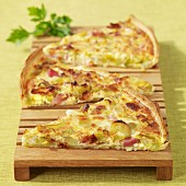 Leek and diced bacon Flamiche