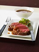 Sliced beef fillet with Périgueux sauce