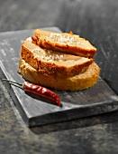 Foie gras with Espelette pepper and sea salt