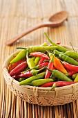 Basket of pimentos