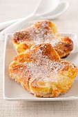 Almond and sugar flaky pastry pies