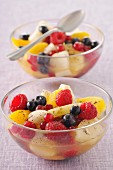 Two bowls of fruit salad