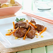 Marinated sirloin with ginger and orange juice