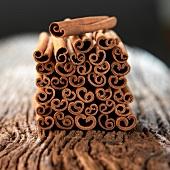 Stacked Chinese cinnamon sticks
