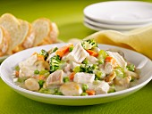 Turkey Blanquette with vegetables