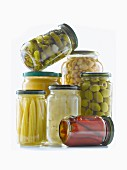 Assorted jars of food