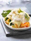Haddock and spinach Cannellonis