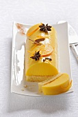 Orange panacotta log cake