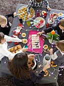 Children's party buffet