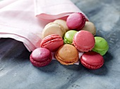 Different-flavored mini macaroons