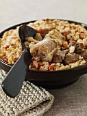 Mutton Pistache with garlic