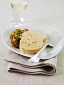 Foie gras with stewed raisins