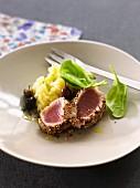 Tuna Teriyaki in pepper crust