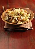 White cabbage, Comté and walnut salad