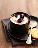 White chocolate ice cream mousse