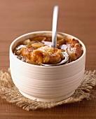 Gratinée à l'oignon , traditional french onion soup