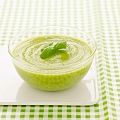 Zucchini and basil gaspacho