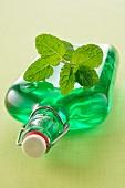 Bottle of mint cordial