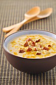 Cauliflower soup with hazelnuts and turmeric