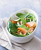 Corn salad,salmon and walnut salad